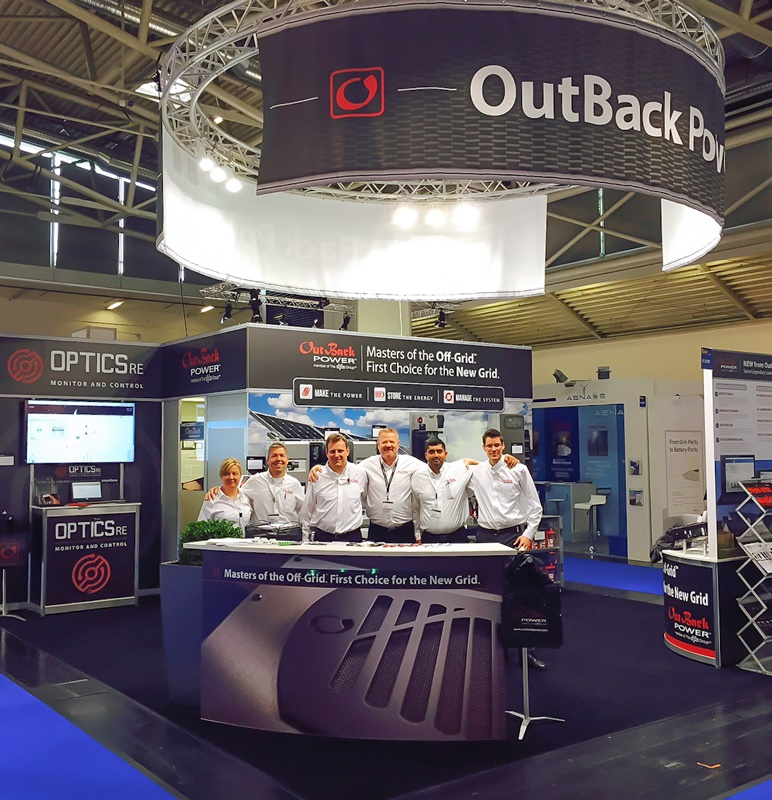 Sun shines on OutBack Power for Intersolar Europe trade show